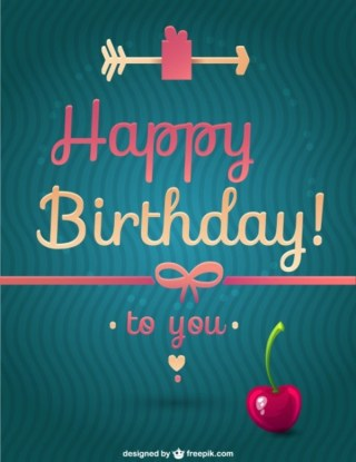 Happy Birthday Message Free Vector