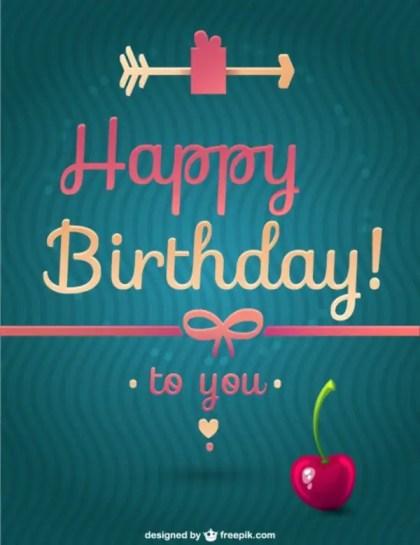 Happy Birthday Message Free Vector