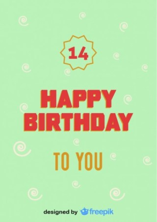 Happy Birthday Number Postcard Vintage Style Free Vector