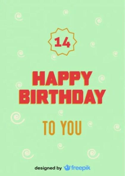Happy Birthday Number Postcard Vintage Style Free Vector