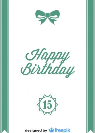 Happy Birthday Ribbon Bow Postcard Vintage Style Free Vector