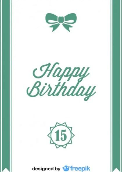 Happy Birthday Ribbon Bow Postcard Vintage Style Free Vector