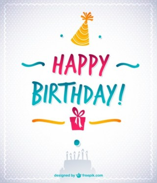 Happy Birthday Text Retro Style Free Vector