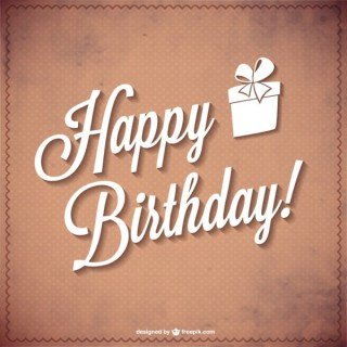 Happy Birthday Typography Free Vector