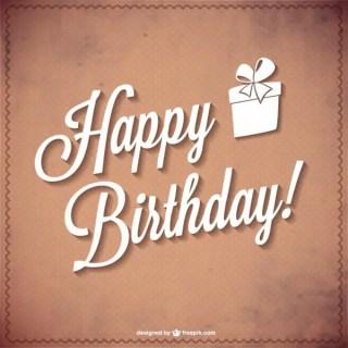 Happy Birthday Typography Free Vector