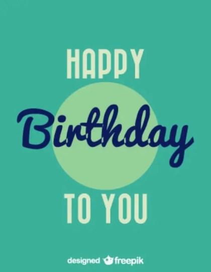 Happy Birthday Vintage Style Card Design Free Vector