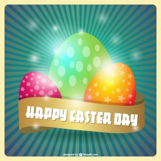 Happy Easter Day Card Free Vector
