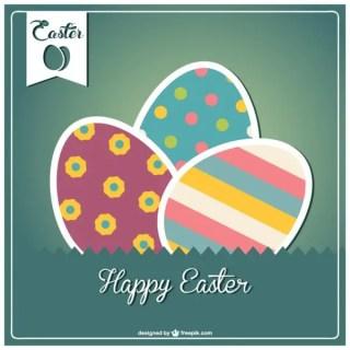 Happy Easter Design Free Vector