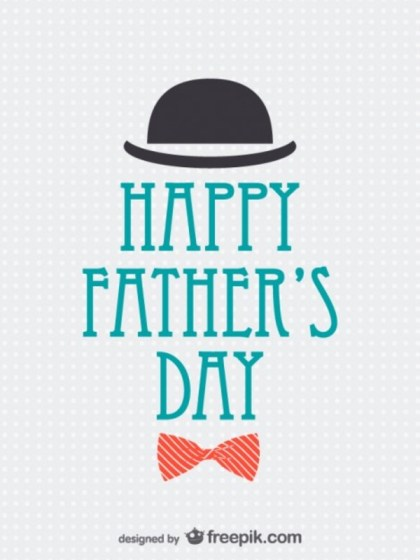 Happy Father's Day Card Free Vector