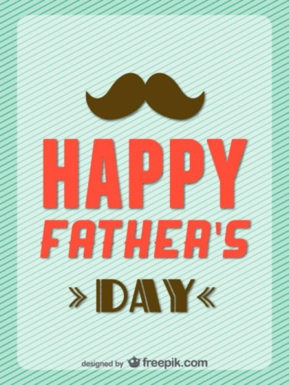 Happy Father's Day Retro Card Free Vector