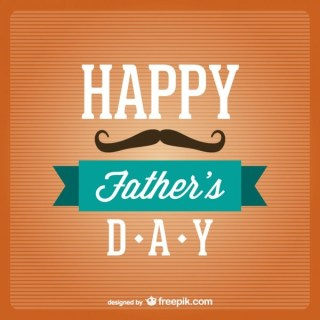 Happy Father's Day Template Free Vector