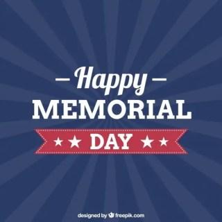 Happy Memorial Day Free Vector