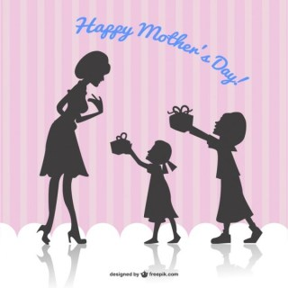 Happy Mother's Day Card Free Vector