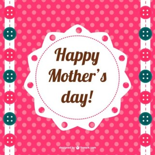 Happy Mother's Day Printable Design Free Vector
