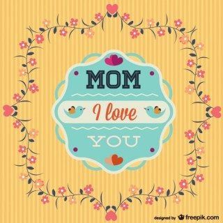 Happy Mother's Day Template Freebie Free Vector