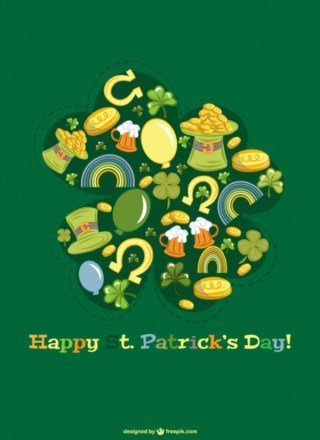Happy Saint Patrick's Day Graphics Free Vector