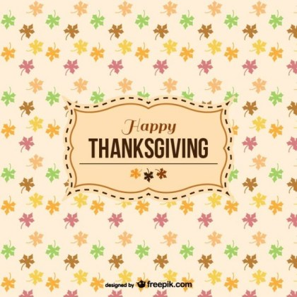Happy Thanksgiving Pattern with Label Free Vector