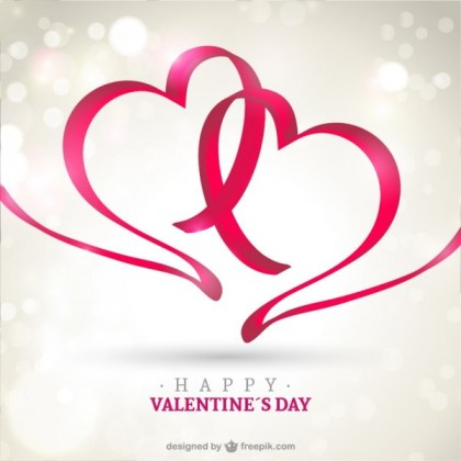 Happy Valentine's Card Free Vector