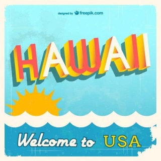 Hawaii Wellcome Design Free Vector
