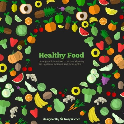Healthy Food Icons Free Vector