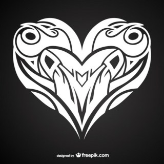 Heart Tattoo Design Free Vector