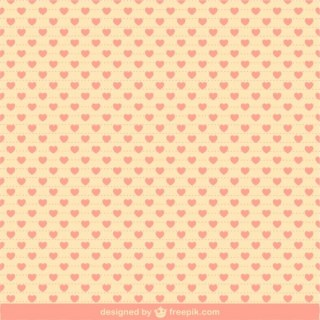 Hearts Pattern Illustration Free Vector