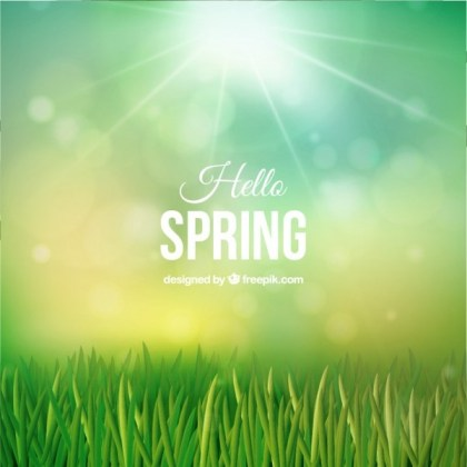 Hello Spring Background Free Vector