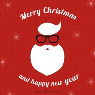 Hipster Christmas Card Free Vector