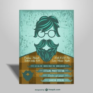 Hipster Style Poster for Concert Free Vector