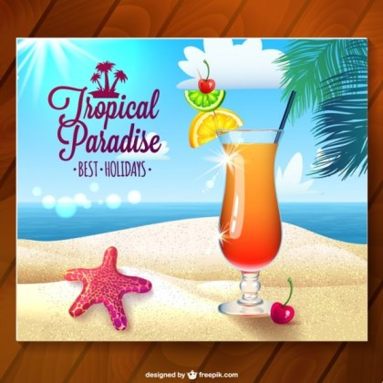 Holiday Photo on Wooden Surface Illustration Free Vector