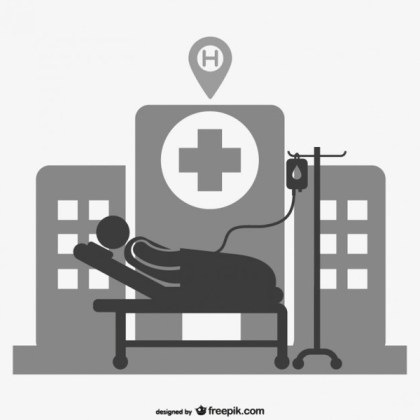 Hospital Patient Sign Free Vector