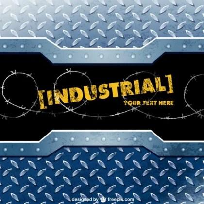 Industrial Metal Template Free Vector