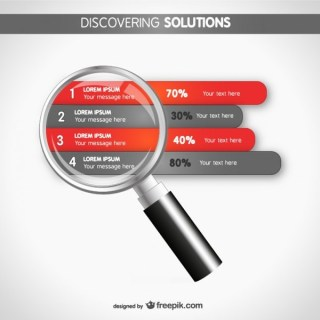 Infographic Strategy Magnifier Design Free Vector