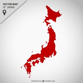 Japan Free Map Free Vector