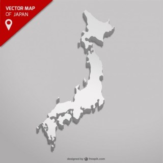 Japan Map Free Vector