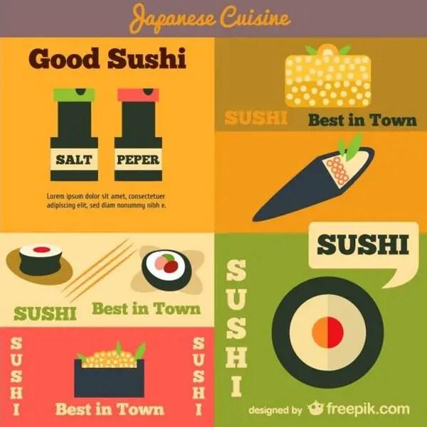 Japanese Cuisine Advertising Free Vector