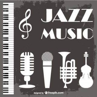 Jazz Music Background Free Vector