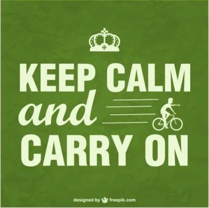 Keep Calm Bike Poster Free Vector