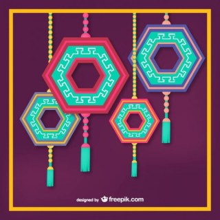 Korean Hanging Ornaments Free Vector