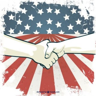 Labor's Day Hand Shake Free Vector