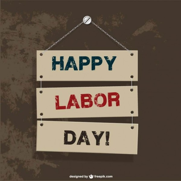 Labor's Day Hanging Signs Free Vector