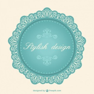 Lace Label Vintage Free Vector