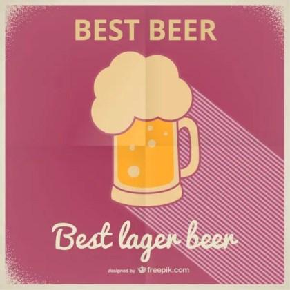Lager Beer Vintage Poster Free Vector