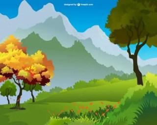 Landscape Art Free Free Vector