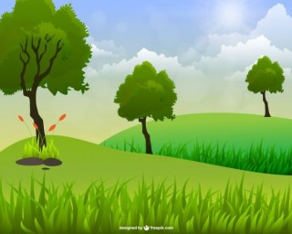 Landscape Art Free Vector
