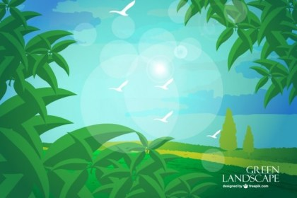 Landscape Background Free Vector