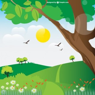 Landscape Illustration Free Vector