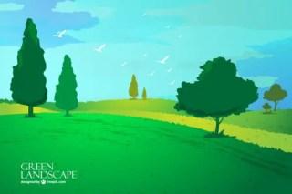 Landscape Wallpaper Free Vector