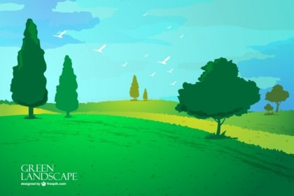 Landscape Wallpaper Free Vector