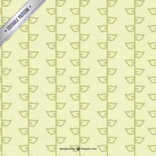 Leaves Pattern Template Free Vector